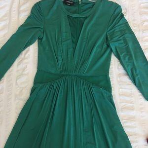 Bebe emerald green cocktail dress